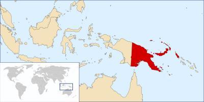 Papua Nova Guinea Mape Sveta Papua Nova Guinea Polohu Na Mape